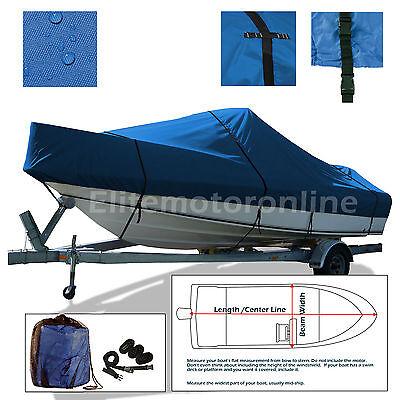 Premium trailerable O//B Deckboat Deck boat Cover Fits 25/' 26.5/'