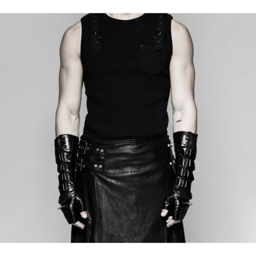 New PUNK RAVE Rock Heavy Metal Gothic Unisex Studs Pair of Gloves S-214 FastPost