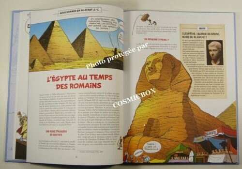 ASTERIX and CLEOPATRE French Egypt adventure comic strips big beautiful book new