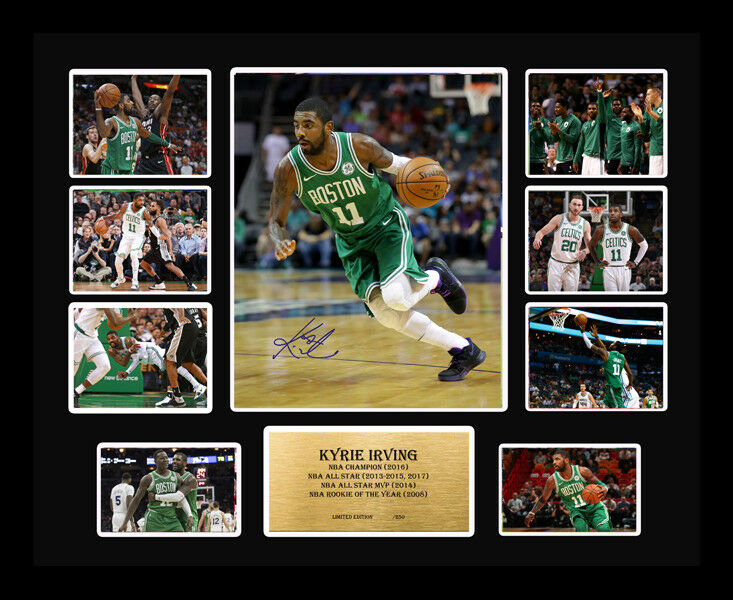 New Kyrie Irving Signed Boston Celtics Limited Edition Memorabilia Framed