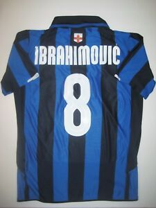 online store b26f8 8e5e2 Details about 2008 Nike Inter Milan Zlatan Ibrahimovic Jersey Maglia Kit  Shirt 100 Anniversary