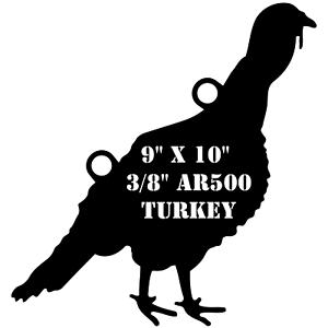 AR500 Steel 9  x 10  x 3 8  Turkey Target Hunting Practice Hen Female Turkey