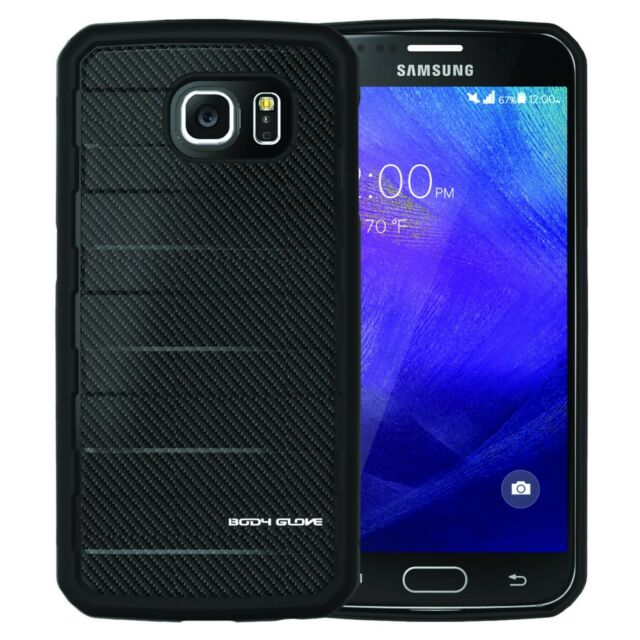 Body Glove RISE Case Samsung Galaxy S6 Rugged Dual Layered - Black Carbon Fiber