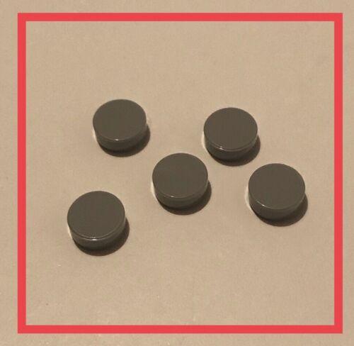 luz azulada Cinza Telha 1x1 Redonda X5 Novo. Genuine Lego parte 4650260