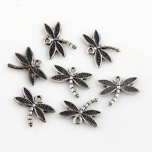 150Pcs en Alliage de Zinc Mini Dragonfly Charms Pendentifs pour À faire soi-même Making 15x18mm
