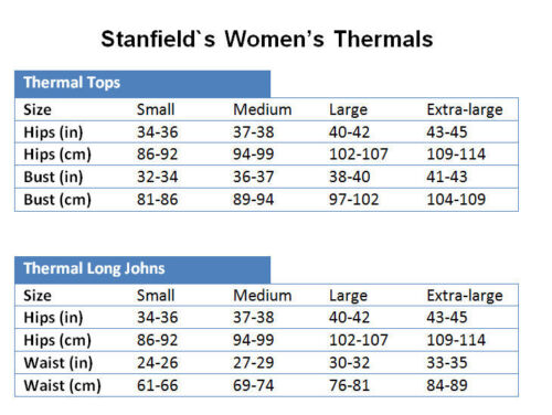 Stanfield/'s Women/'s Chill Chaser Thermal Top Style 2483