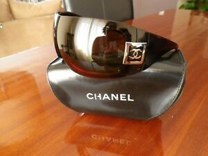 951c50c3f Image is loading CHANEL-Wrap-Brown-Red-Women-Sunglasses-Rare-5086-