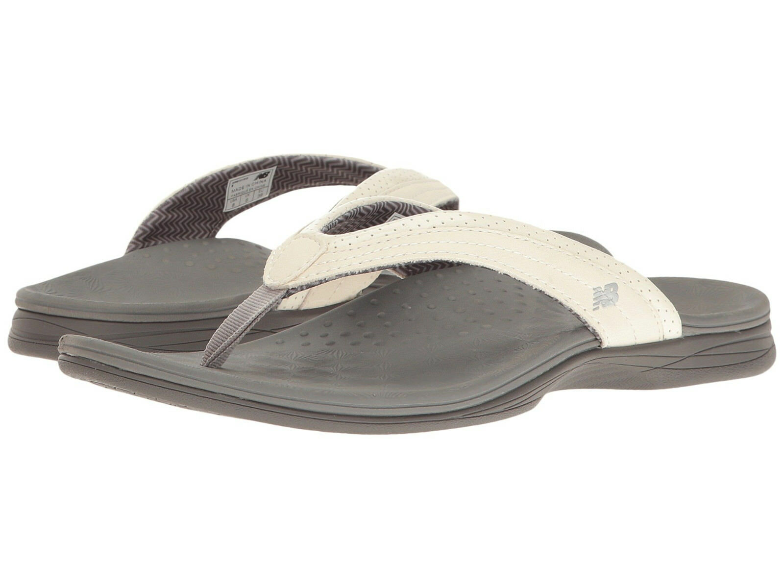 Women New Balance Hayden Flip Flop Sandal WR6101WG White Grey 100% Original New