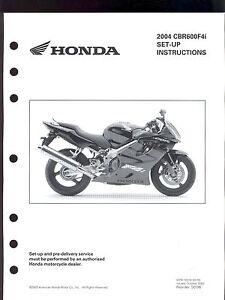 2004 honda cbr600f4i motorcycle set up instruction manual ebay rh ebay co uk 2006 honda cbr600f4i owners manual 2001 honda cbr600f4i manual pdf
