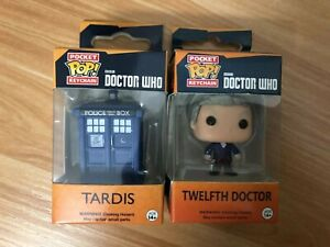 Doctor-Who-PVC-Keyring-Blue-Box-Tardis-Doctor-Figure-Funko-POP-Pocket-Keychain