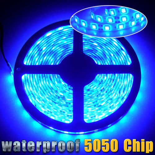 5M//16.4ft Flexible LED Strip Light 5050 SMD 300leds Outdoor Lamp Waterproof 12V