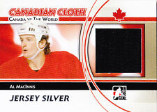 11-12 ITG Al MacInnis Jersey Silver Canada vs The World 2011 Canadian Cloth
