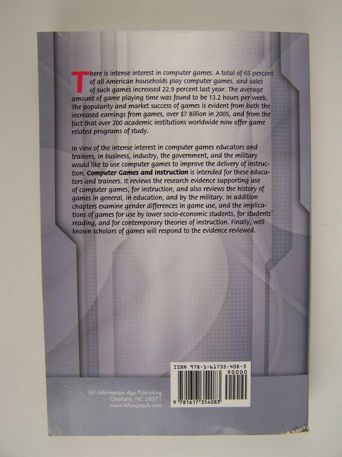 Computer Games and Instruction Paperback Sigmund Tobias
