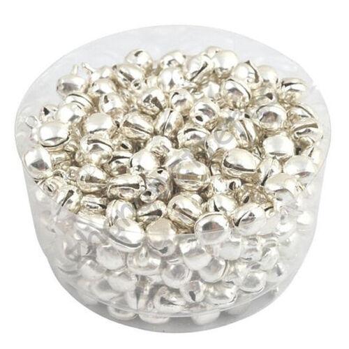 2X 2X 100 piezas de hierro Jingle Bells Plata E2Q6 B05 Q2J2
