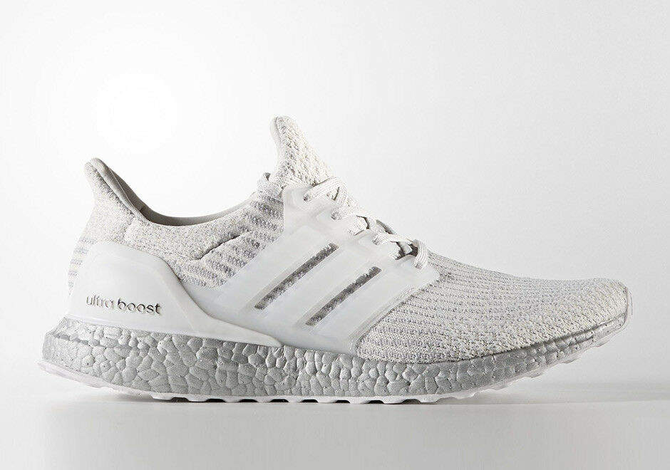 Adidas Ultra Boost White Grey Crystal LTD Comfortable