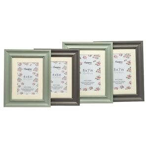 Rustic-Shabby-Chic-Distressed-Photo-Picture-Frame-amp-Mount-In-Soft-Sage-Or-Grey