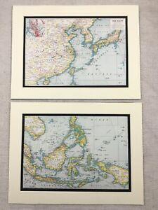 1920-Antique-Prints-Map-of-Far-East-Asia-Indo-China-Borneo-Papua-New-Guinea