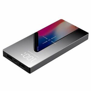 Portable-Power-Bank-20000mAh-Dual-USB-Wireless-Charging-5V-2A-External-Battery
