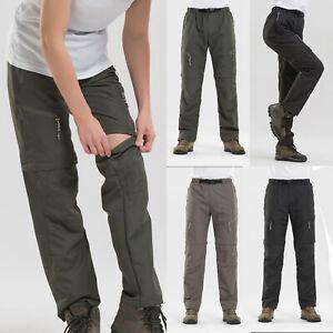 Mens-Womens-Zip-Off-Leg-Convertible-Cargo-Work-Pants-Tactical-Combat-Trousers-XL