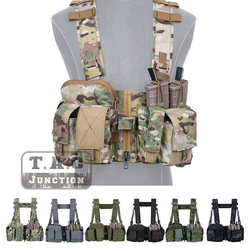Emerson Tactical UW Chest Rig Split Front Gen V Hunting Vest H Harness + pouches