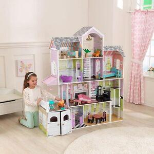 Kidkraft Grand Estate Wooden Girls Dolls House Furniture Fits Barbie