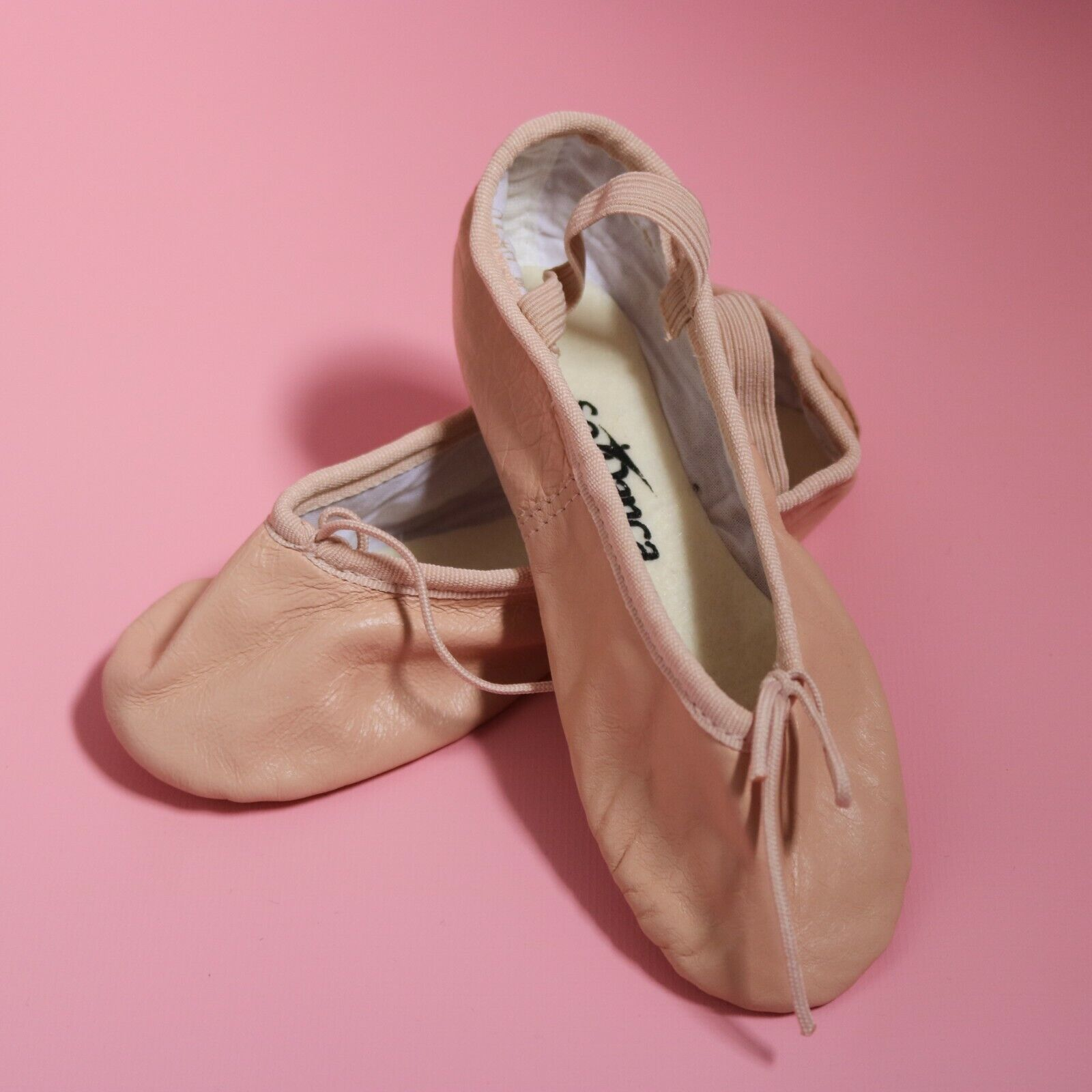 So Danca Infant Pink Leather Full Foot Ballet Shoes BAE90 Various Sizes NEW