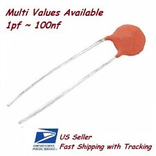 10 Pcs Ceramic Capacitors Multi Value Available 1pf 100nf Us Ship Withtracking