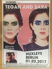 TEGAN AND SARA  2017 BERLIN  + orig.Concert Poster --  Konzert Plakat   A1 NEU