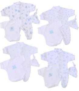 estilo moderno vendible más cerca de Detalles de BabyPrem Bebé Prematuro Conjunto 3P Pijama Body Sombrero Ropa  Algodón 32-50cm