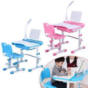 Scrivania per bambini regolabile in altezza con sedia con lampada a ...