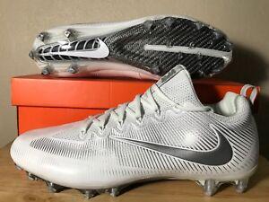 57a67ff0e649 Nike Vapor Untouchable Pro Size 15 Football Cleats White Silver New ...