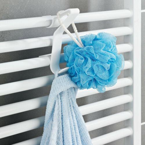 3 x Badetuchhalter biegsam Handtuchhaken für Bad Rundheizkörper Handtuchhalter