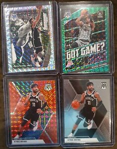 2019-20-Panini-Mosaic-Kyrie-Irving-Lot-4-Silver-Swagger-Green-Got-Game-Red