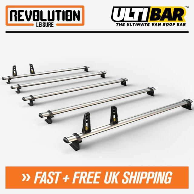 Mercedes Sprinter, VW Crafter 2006+ Roof Rack Ladder Bars 5 x Van Guard ULTI Bar