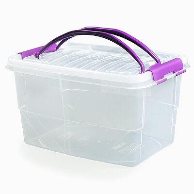 Energico Nuovo 7l 7 Litro Clip Manico Plastica Stoccaggio Chiaro Cibo Handy Casella Valore 021166-
