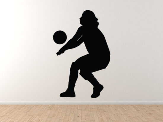 Sport Silhouette - Volley Ball Player Return Serve Version 1 - Vinyl Wall Decal