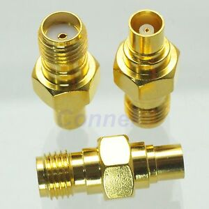 1pce-SMA-female-jack-to-MCX-female-jack-RF-coaxial-adapter-connector