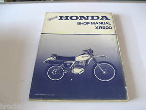 Manuel Revue Technique D Atelier Honda Xr 500 1979-> Shop Manual Rag9a8ir-07214833-440214738