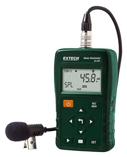 Extech SL400 Lärmdosimeter Schallpegel Datenlogger USB nach IEC + ANSI Lärm