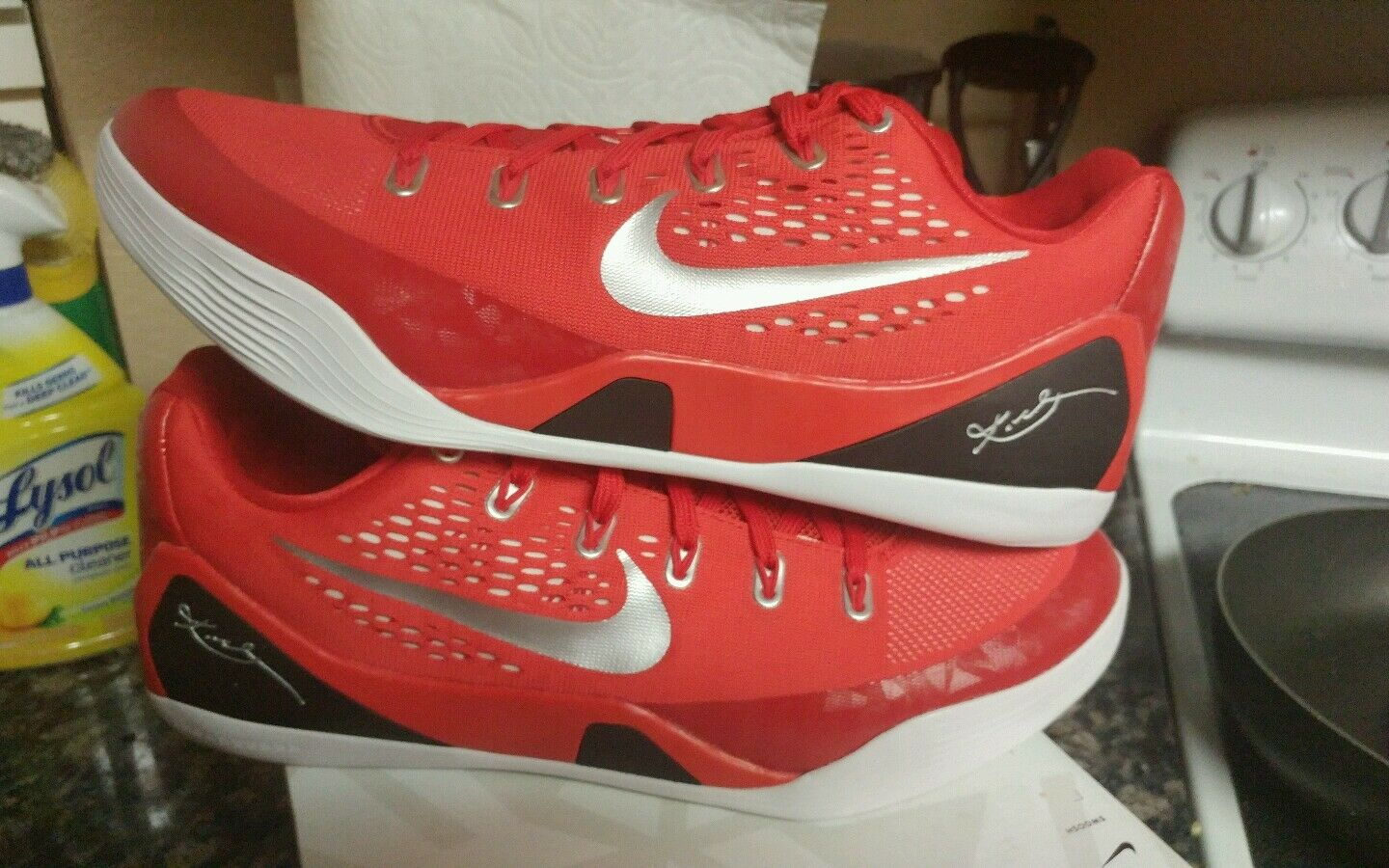 NIKE UNRELEASED KOBE IX 9 EM TB UNIVERSITY RED OCTOBER Price reduction Great discount Comfortable and good-looking