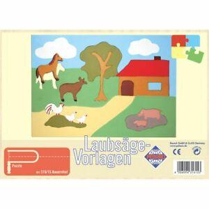 PEBARO-Laubsaegevorlage-Bauernhof-Puzzle