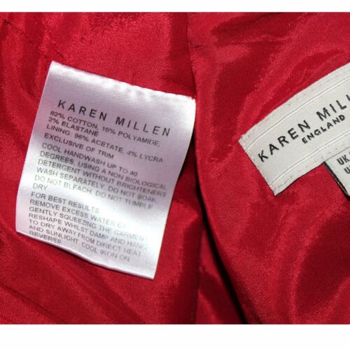 Millen ricamato cinese in Wiggle Dress Karen Uk 10 Cotton stile orientale Red R64qUdx