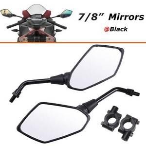 Motorcycle Rearview Side Mirrors Handle Bars For ATV Kawasaki Suzuki Honda