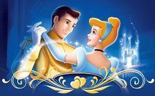 Disney Cinderella and Prince B/W Cross Stitch Chart