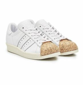 Détails sur Adidas Superstar années 80 Liège Femme Baskets Blanc UK Taille 5 afficher le titre d'origine