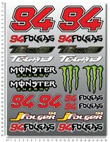 Jonas Folger 94 Folgas Aufkleber blatt Laminiert stickers MotoGP yamaha