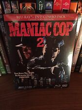 Maniac Cop 2 (1990) Blu-Ray/DVD Combo Pack OOP Blue Underground Slipcover NEW
