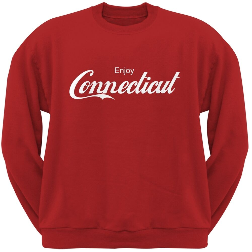 b356800994 Enjoy Connecticut Red Adult Sweatshirt nrqsqv16847-Hoodies ...