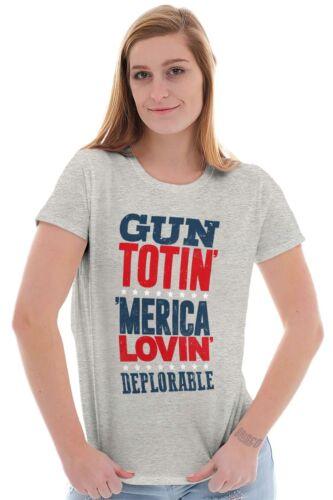 Arms Totin America Lovin United States Trump President Ladies Tee Shirt T