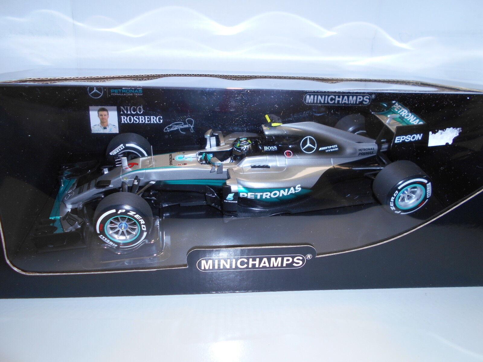 MIN110160006 by MINICHAMPS MERCEDES GP F1 W07  6 N.ROSBERG 2016 1 18